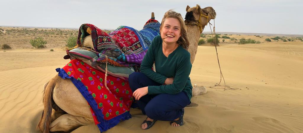 camel safari india desert