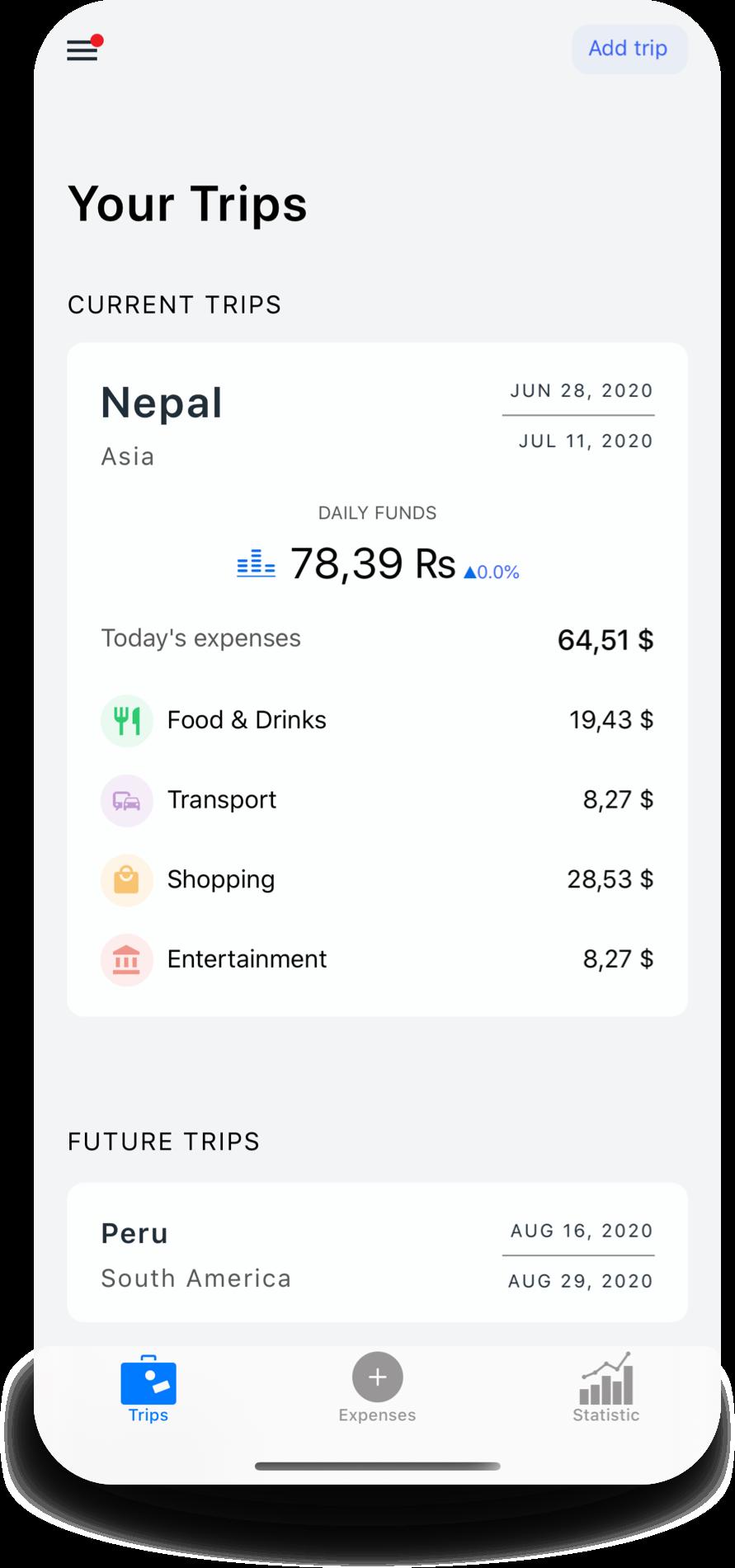 app TripExbud trips