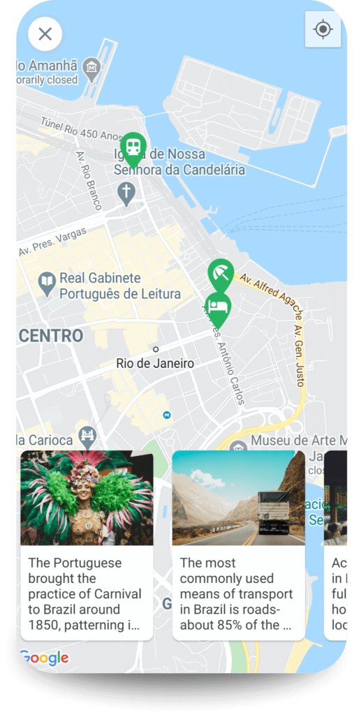 Travel Hacks App map