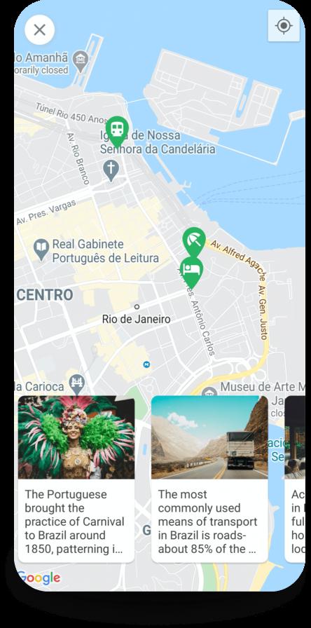 Travel Hacks App map